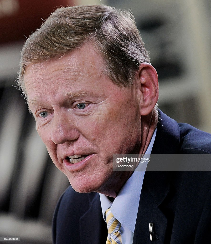 <a gi-track='captionPersonalityLinkClicked' href=/galleries/search?phrase=Alan+Mulally+-+Businessman&family=editorial&specificpeople=226958 ng-click='$event.stopPropagation()'>Alan Mulally</a>, president and chief executive officer of Ford Motor Co., speaks during a Bloomberg Television interview in New York, U.S., on Monday, Dec. 3, 2012. Ford Motor Co., seeking to revive sales of Lincoln vehicles, is fielding the brand's first Super Bowl spot as well as a television commercial that portrays the U.S. president who gave the luxury line its name. Photographer: Peter Foley/Bloomberg via Getty Images