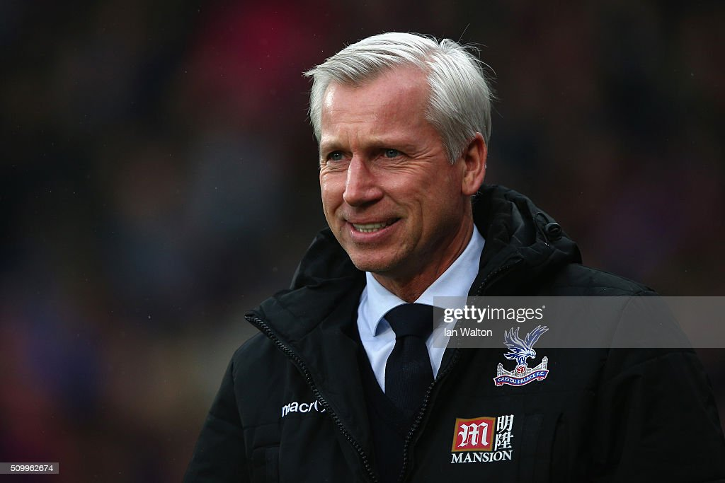 <a gi-track='captionPersonalityLinkClicked' href=/galleries/search?phrase=Alan+Pardew&family=editorial&specificpeople=171147 ng-click='$event.stopPropagation()'>Alan Pardew</a> Manager of Crystal Palace looks on prior to the Barclays Premier League match between Crystal Palace and Watford at Selhurst Park on February 13, 2016 in London, England.
