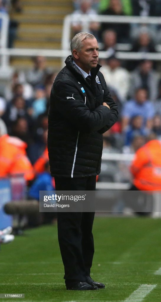 <a gi-track='captionPersonalityLinkClicked' href=/galleries/search?phrase=Alan+Pardew&family=editorial&specificpeople=171147 ng-click='$event.stopPropagation()'>Alan Pardew</a>, the Newcastle United manager looks on during the Barclays Premier League match between Newcastle United and West Ham United at St James' Park on August 24, 2013 in Newcastle upon Tyne, England.