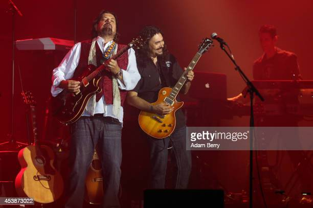Alan Parsons and Alastair Greene of the Alan Parsons Live Project perform during a concert at Admiralspalast on August 20 2014 in Berlin Germany