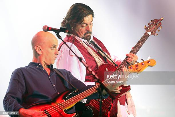 Alan Parsons and Guy Erez of the Alan Parsons Live Project perform during a concert at Admiralspalast on August 20 2014 in Berlin Germany