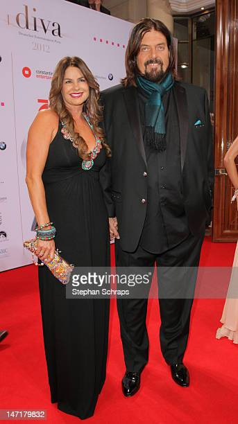 Alan Parsons and wife attend the Diva Award 2012 at Hotel Bayerischer Hof Promenadeplatz on June 26 2012 in Munich Germany