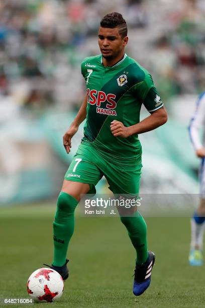Alan Pinheiro of Tokyo Verdy in action during the JLeague J2 match between Tokyo Verdy and Oita Trinita at Ajinomoto Stadium on March 5 2017 in Chofu...