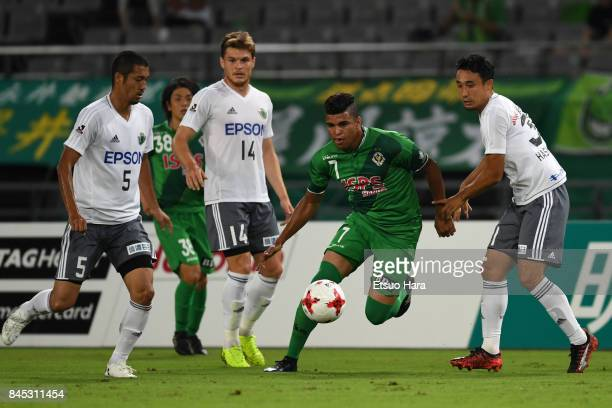Alan pinheiro of Tokyo Verdy in action during the JLeague J2 match between Tokyo Verdy and Matsumoto Yamaga at Ajinomoto Stadium on September 10 2017...