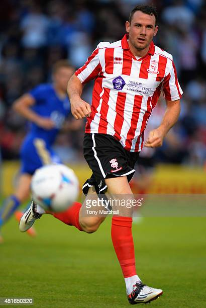 Alan Power of Lincoln City during the Pre Season Friendlly match between Lincoln City and Leicester City at Sincil Bank Stadium on July 21 2015 in...