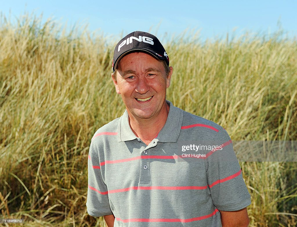 Alan Powys of Vicars Cross Golf Club poses for photos after winning the Virgin Atlantic PGA National Pro-Am Championship - Regional at St Annes Old Links Golf Club on July 13, 2011 in Lytham St Annes, England