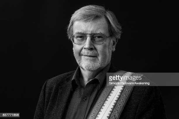 Alan Riach attends a photocall during the Edinburgh International Book Festival on August 23 2017 in Edinburgh Scotland