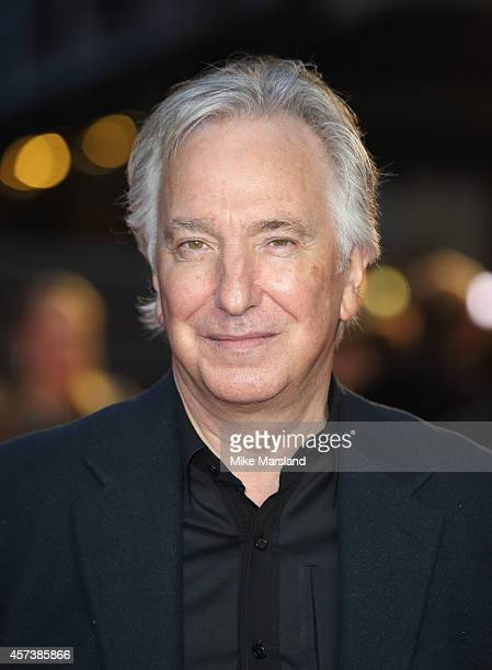 Alan Rickman attends a screening of 'A Little Chaos' during the 58th BFI London Film Festival at Odeon West End on October 17 2014 in London England