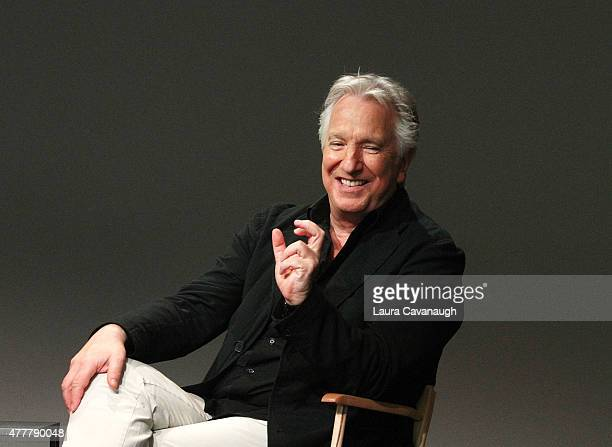 Alan Rickman attends Apple Store Soho Meet the Filmmaker Alan Rickman 'A Little Chaos' at Apple Store Soho on June 19 2015 in New York City