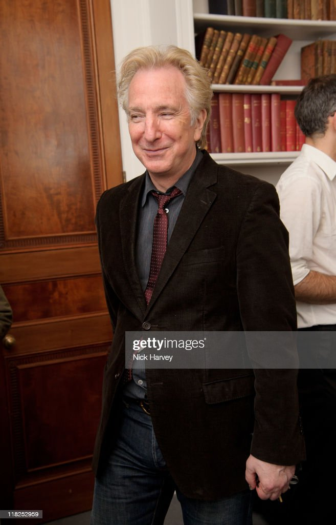 Alan Rickman attends 'Independent Voices 5x15 Hacked Off with Free Speech' at The Royal Institute of Great Britain on July 5 2011 in London England