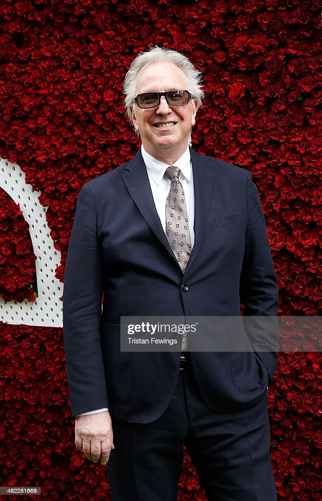 Alan Rickman attends on day two of the Qatar Goodwood Festival at Goodwood Racecourse on July 29 2015 in Chichester England
