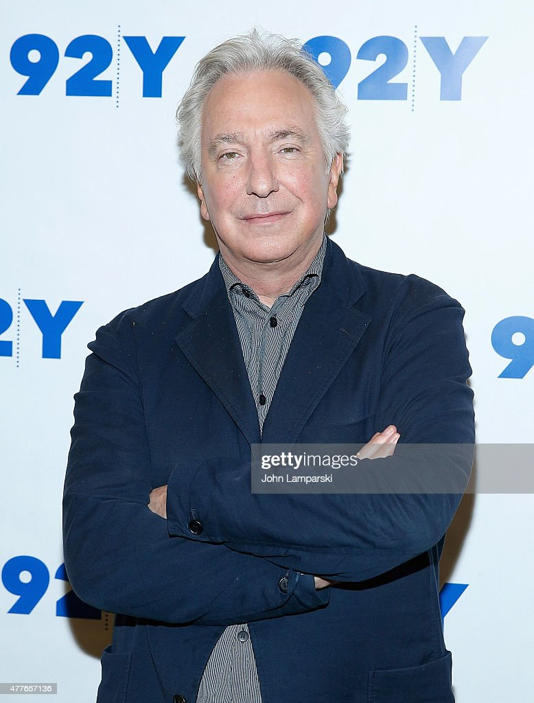 Alan Rickman attends Reel Pieces with Annette Insdorf preview of 'A Little Chaos' at 92nd Street Y on June 18 2015 in New York City