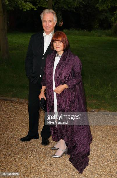 Alan Rickman attends the annual Raisa Gorbachev Foundation Party at Stud House Hampton Court on June 5 2010 in London England