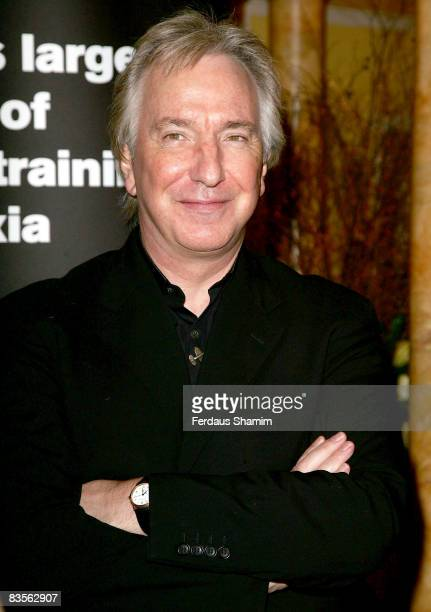 Alan Rickman attends the Dyslexia Awards Dinner at The Dorchester on November 4 2008 in London England