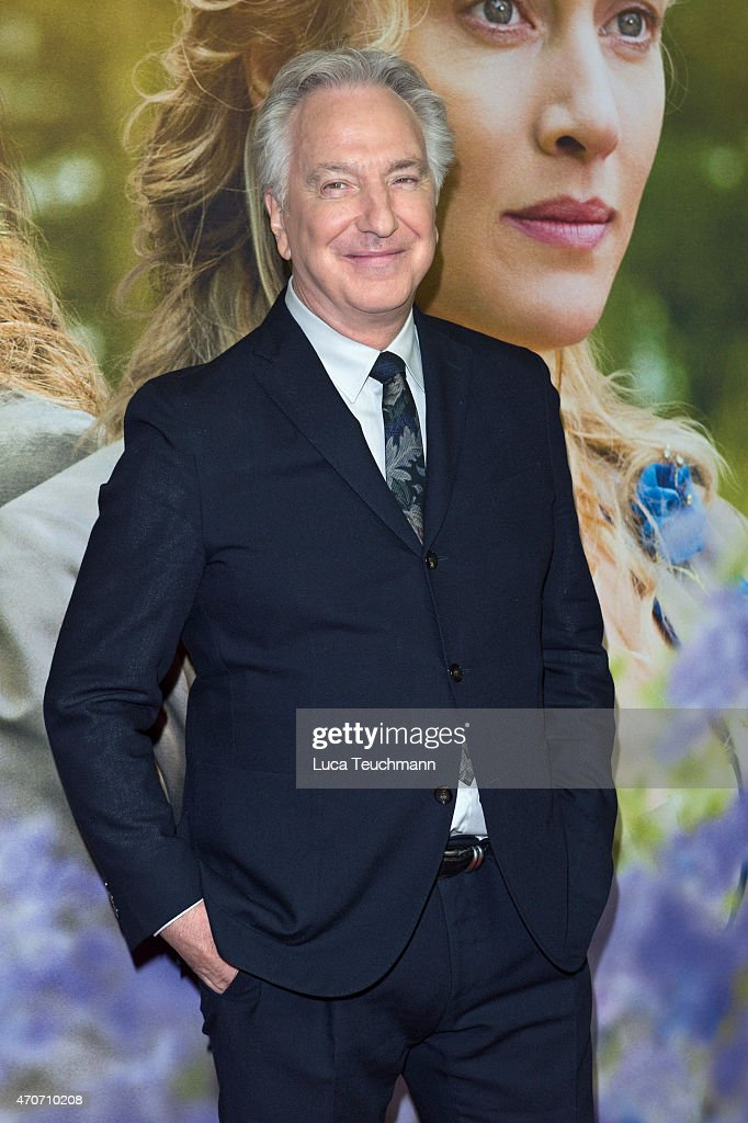Alan Rickman attends the German premiere for the film 'A Little Chaos' at Kino in der Kulturbrauerei on April 22 2015 in Berlin Germany