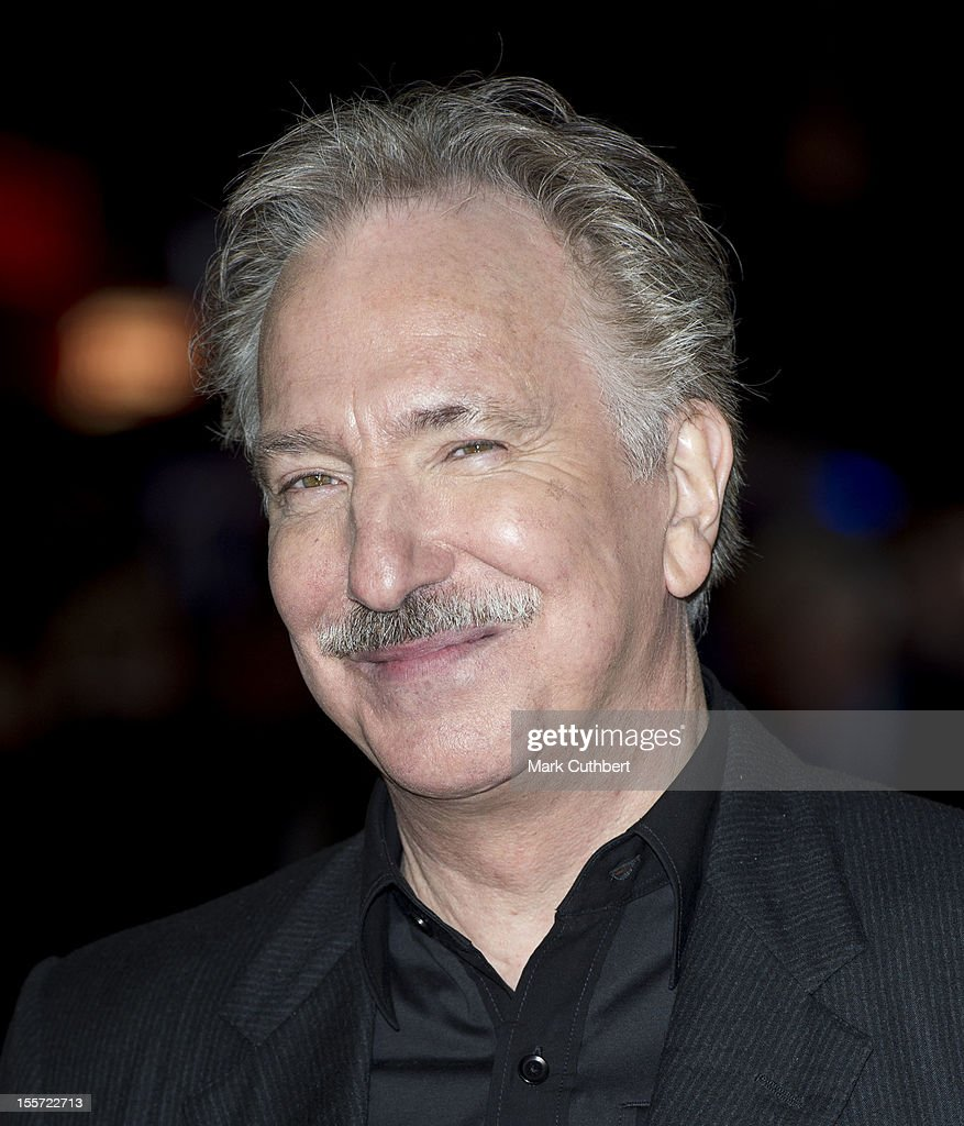 Alan Rickman attends the World Premiere of 'Gambit' at Empire Leicester Square on November 7 2012 in London England