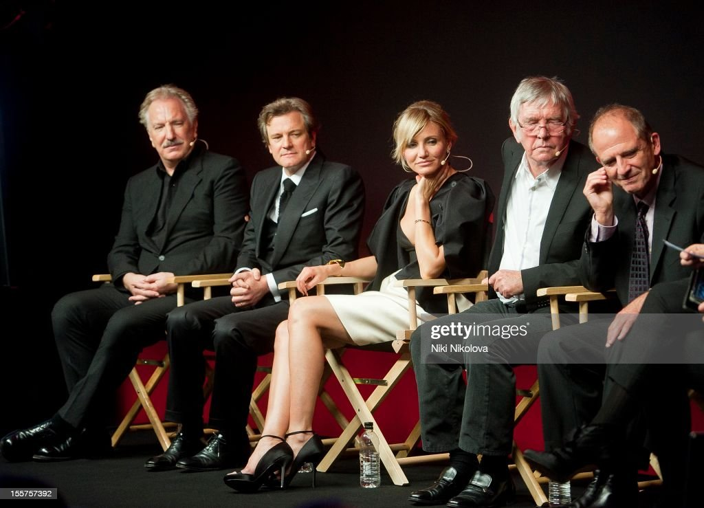 Alan Rickman, Colin Firth, Cameron Diaz, Tom Courtenay and Michael Hoffman attend Meet The Film Makers: Gambit at the Apple Store, Regent Street on November 7, 2012 in London, England.