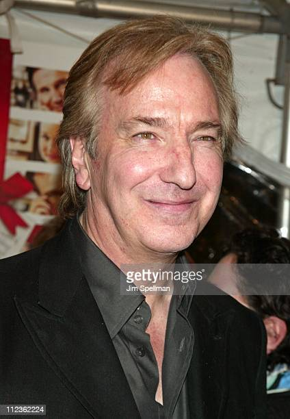 Alan Rickman during 'Love Actually' New York Premiere at Ziegfeld Theatre in New York City New York United States