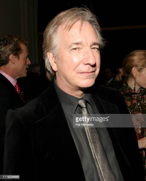 Alan Rickman during Sixth Annual Gala Benefit for Only Make Believe at The Hudson Theatre in New York City New York United States