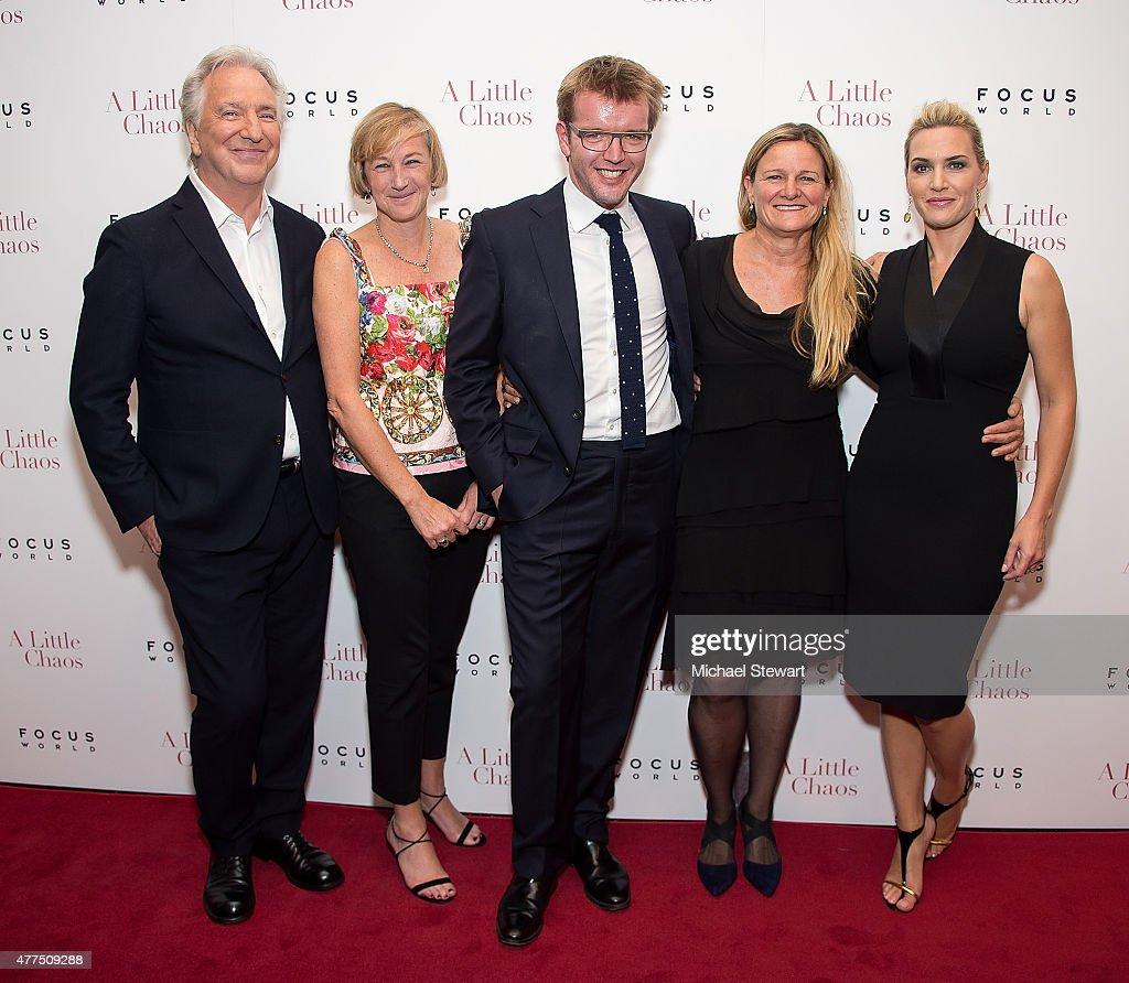 Alan Rickman Gail Egan Peter Gregson Ellen Kuras and Kate Winslet attend the 'A Little Chaos' New York premiere at Museum of Modern Art on June 17...
