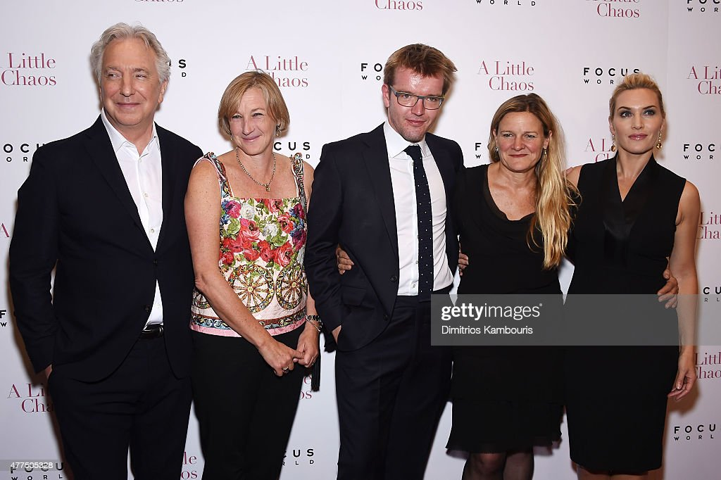 Alan Rickman Gail Egan Peter Gregson Ellen Kuras and Kate Winslet attend the New York Premiere of 'A Little Chaos' at Museum of Modern Art on June 17...