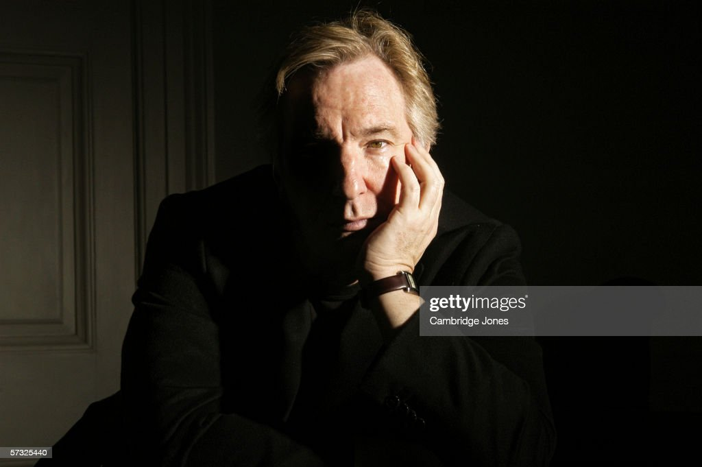 Alan Rickman poses during a photo call held on March 9 2004 at his home in London England