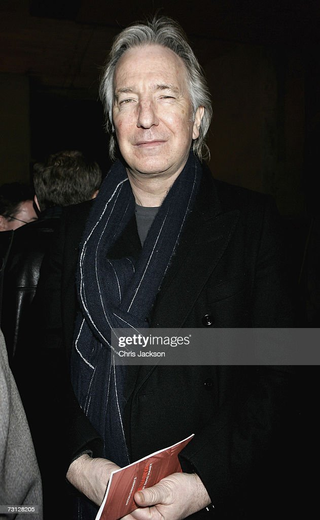 Alan Rickman poses for a photograph at Wilton's Music Theatre during the Uncle Vanya after party on Jauary 26, 2007.
