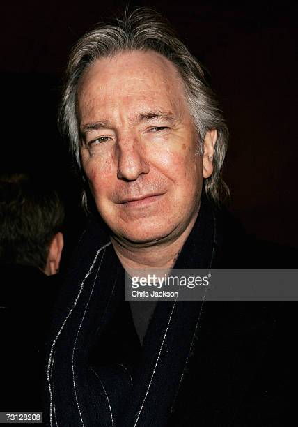 Alan Rickman poses for a photograph at Wilton's Music Theatre during the Uncle Vanya after party on Jauary 26 2007