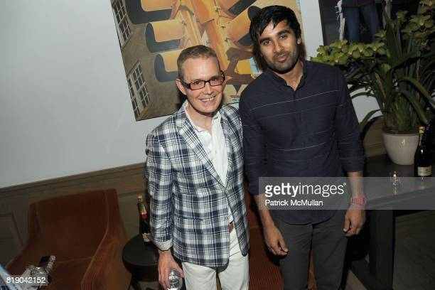 Alan Rish and Neel Shah attend MOET CHANDON Private Screening of 'Sex the City 2' at Crosby Street Hotel on May 26 2010 in New York City