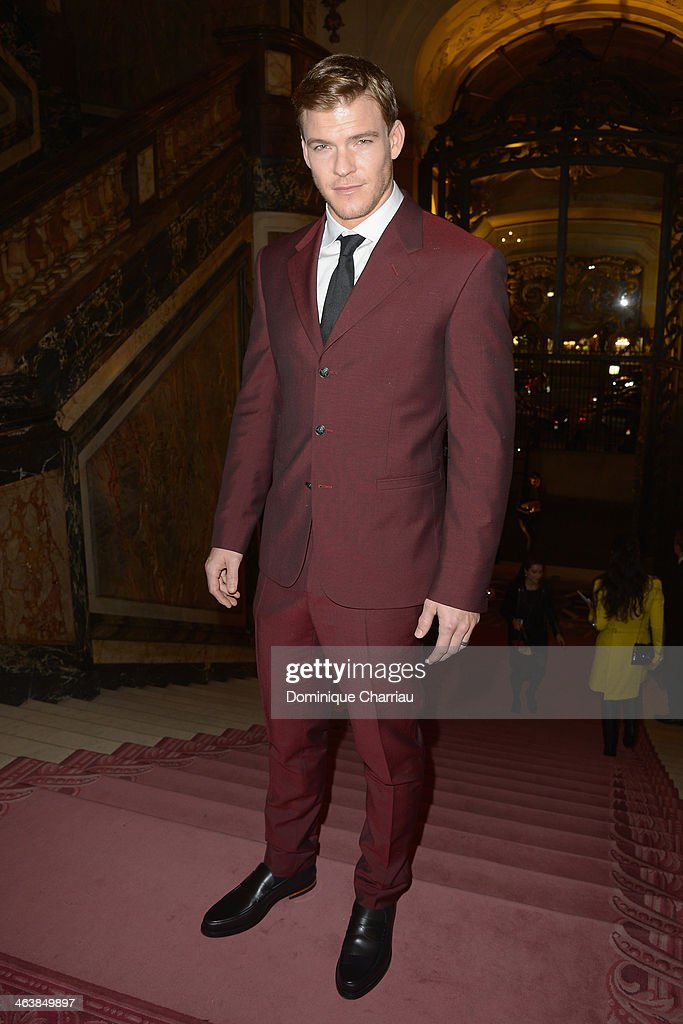 Alan Ritchson attends the Atelier Versace show as part of Paris Fashion Week Haute Couture Spring/Summer 2014 on January 19 2014 in Paris France