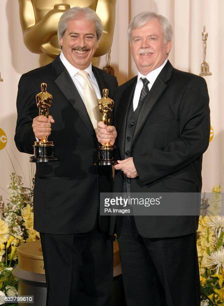 OVER Alan Robert Murray and Bub Asman with the Award for Achievement in Sound Editing for Letters from Iwo Jima during the 79th Academy Awards at the...