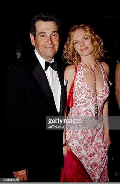 Alan Rosenberg Marg Helgenberger during The 54th Annual Primetime Emmy Awards Governor's Ball at The Shrine Auditorium in Los Angeles California...