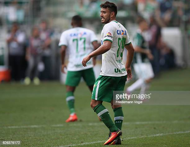 Alan Ruschel of Chapecoense looks on during the match between Palmeiras and Chapecoense for the Brazilian Series A 2016 at Allianz Parque on November...