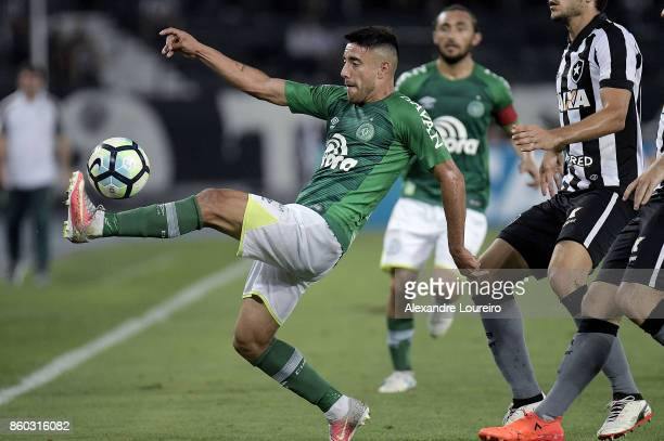 Alan Ruschelof Chapecoense in action during the match between Botafogo and Chapecoense as part of Brasileirao Series A 2017 at Engenhao Stadium on...