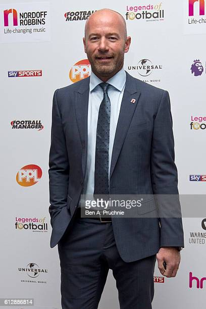 Alan Shearer attends the 21st Legends of football event to celebrate 25 seasons of the Premier League and raise money for music therapy charity...