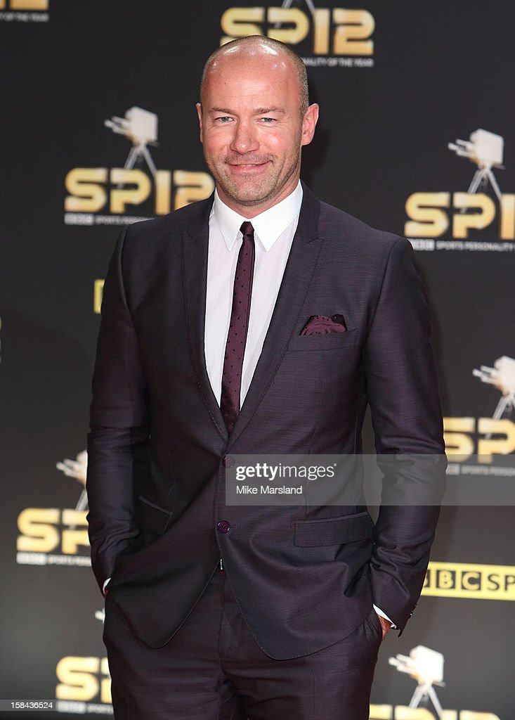 Alan Shearer attends the BBC Sports Personality Of The Year Awards at ExCel on December 16, 2012 in London, England.