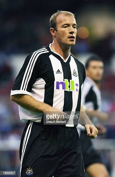 Alan Shearer of Newcastle United in action during the preseason friendly between Nottingham Forest and Newcastle United match played at the City...