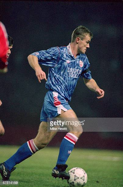 Alan Shearer of Southampton runs with the ball during the FA Cup 4th Round Replay match between Manchester United and Southampton held on February 5...