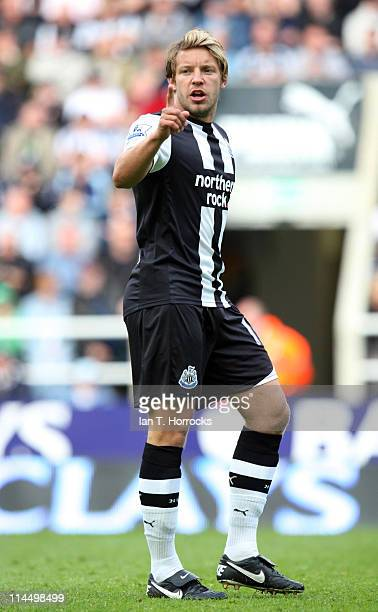 Alan Smith of Newcastle United during the Premier League match between Newcastle United and West Bromwich Albion at St James' Park on May 22 2011 in...