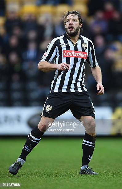Alan Smith of Notts County in action during the Sky Bet League Two match between Notts County and Leyton Orient at Meadow Lane on February 20 2016 in...