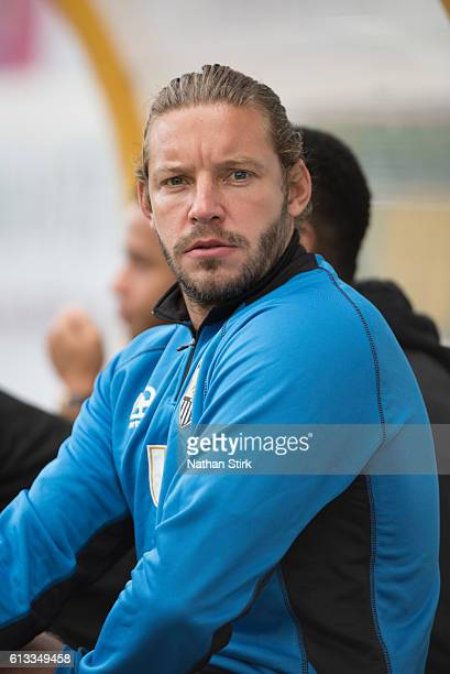 Alan Smith of Notts County looks on during the Sky Bet League Two match between Mansfield Town and Notts County at One Call Stadium on October 8 2016...