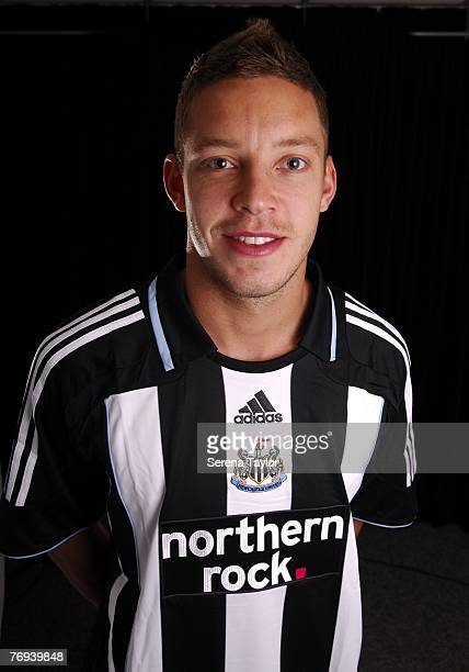 Alan Smith poses during a Newcastle United photocall on September 21 2007 in Newcastle United Kingdom