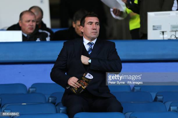 Alan Stubbs watches from the stands