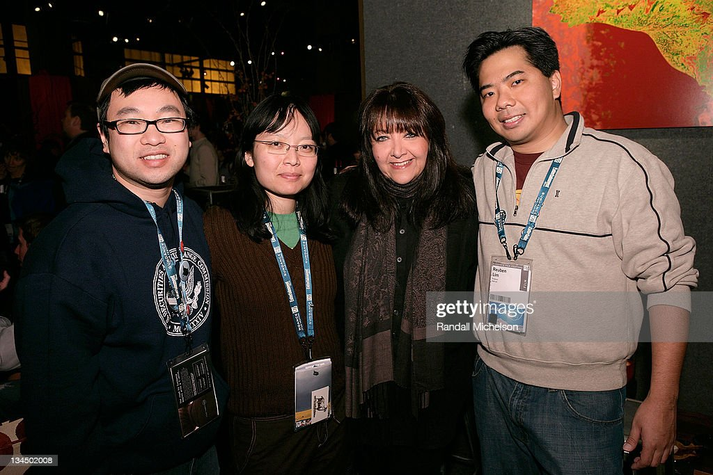 Alan T. Chan, Writer-Director Jennifer Phang, Doreen Ringer Ross of BMI, and Producer Reuben Lim attend the BMI Big Crowded Room Party at the Leaf Lounge during the 2008 Sundance Film Festival on January 21, 2008 in Park City, Utah.