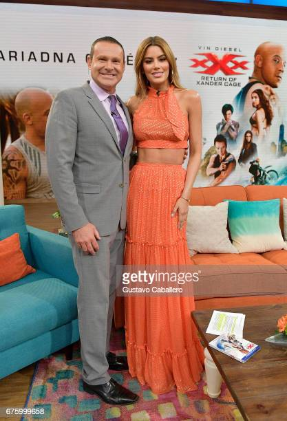 Alan Tacher and Ariadna Gutierrez attends the Univision's 'Despierta America' to promote her DVD xXx The Return of Xander Cage on May 2 2017 in Miami...