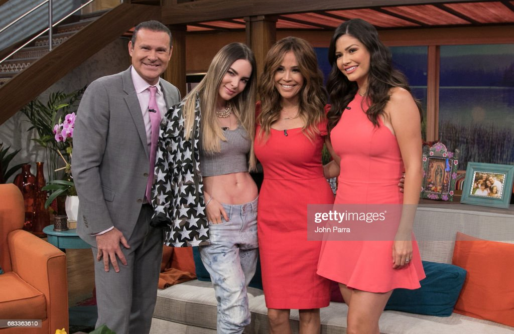 Alan Tacher, Belinda, Karla Martinez and Ana Patricia Gonzlez are seen at Univision's 'Despierta America' to promote the film Batwatch on May 15, 2017 in Miami, Florida.
