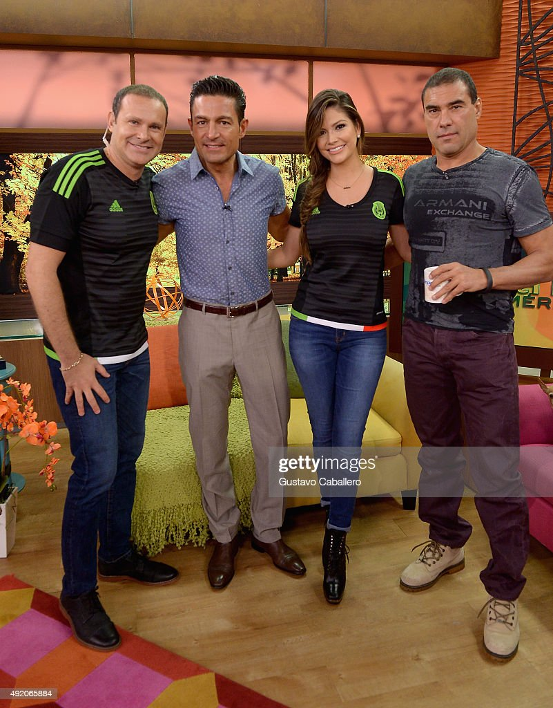 Celebrities On The Set Of Univision's Despierta America