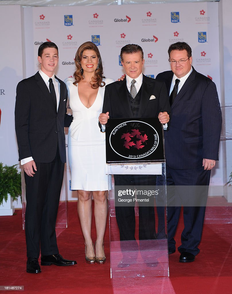 Alan Thicke and family attend Canada's Walk Of Fame Ceremony at The Elgin on September 21, 2013 in Toronto, Canada.