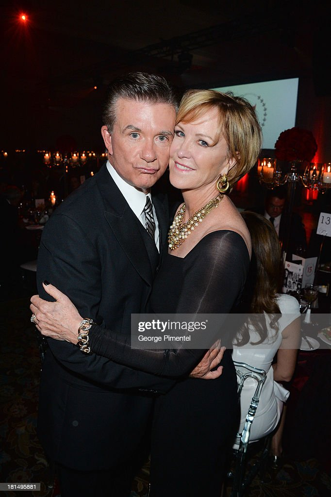 Alan Thicke and Joanna Kerns attend Canada's Walk Of Fame After Party at The Sheraton Hotel on September 21 2013 in Toronto Canada