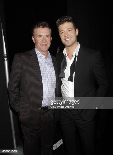 Alan Thicke and Robin Thicke backstage during the THE GRAMMY NOMINATIONS CONCERT LIVE Ñ COUNTDOWN TO MUSIC'S BIGGEST NIGHT¨ broadcast Friday Dec 6 on...